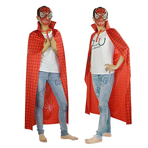 XIAXIACP Halloween Karneval Party Party Kostüm 1,2 M Red Spider-Man Adult Cape Cos ()
