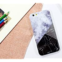 coolcool marmo, pietra stile Custodia morbida in silicone per iPhone 6 Plus/6S Plus (5.5) sottile in TPU Cover posteriore lucida Colorful Painting Flessibile, leggera custodia protettiva Full Body legno Rock Pattern Cover Bumper per iPhone 6 Plus/6S Plus