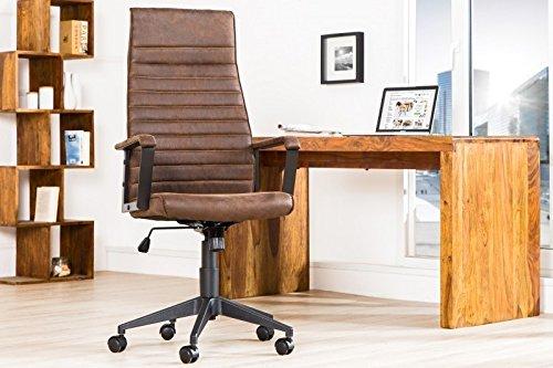 DuNord Design Schreibtischstuhl Bürostuhl ROM 2 Vintage braun Chefsessel Drehstuhl Drehsessel