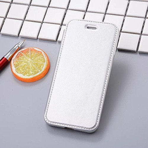 IPhone 7 Plus Case, Ultra-Lightweight Ganzkörper-Schutz TPU Soft Flip Case für IPhone 7 Plus / IPhone 7 ( Color : Black , Size : IPhone 7 Plus ) Silver