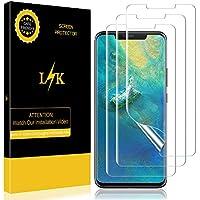 LK [3 Pack Pellicola per Huawei Mate 20 PRO, Wet Applied Pellicola Protettiva Protezione Schermo [Copertura Completa] [Bubble-Free-Riutilizzabile] HD Clear Film con Garanzia di Sostituzione a Vita
