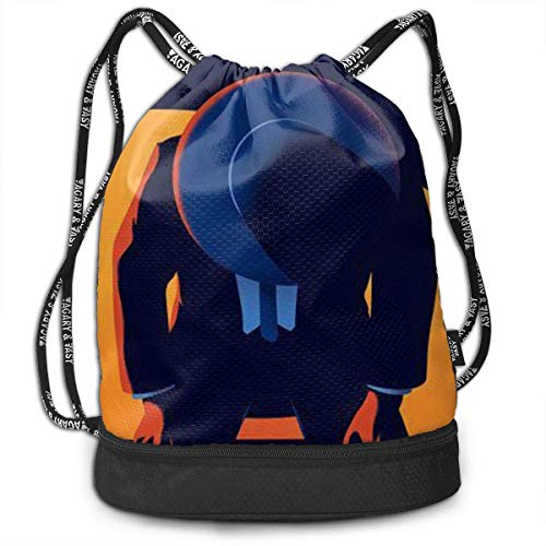 PmseK Turnbeutel Sportbeutel Kordelzug Rucksack, Sporttasche Man Plays The Piano Art Painting Shoulder Bags Travel Sport Gym Bag Print - Yoga Runner Daypack Shoe Bags with Zipper and Pockets