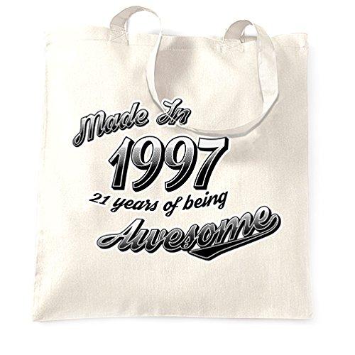 21 ° Compleanno Sacchetto Di Tote Made In 1997 21 anni di essere Anno Impressionante White