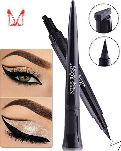 Ladygo – Vamp Stamp – 3 en 1 – Eye liner liquide et tampon – Accessoire cosmétique Bullet Shape Design Eyeliner Stamp
