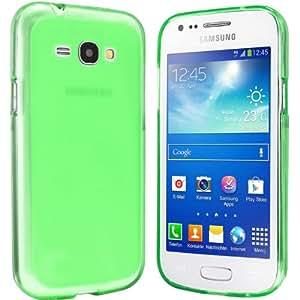 Samsung Galaxy Ace 3 Hülle - Schutzhülle Case Tasche für Samsung Galaxy Ace 3 (transparent-grün)