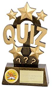 """6"""" Pinnacle Quiz Trophy with FREE Engraving up to 30 Letters A1260A"""