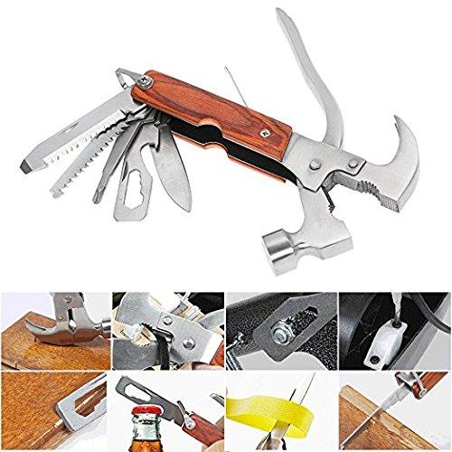 Takestop pinza 12in1 multifunzione 17.5 cm in acciaio martello coltello seghetto levachiodi cacciavite portatile utensili sega bobina emergenza
