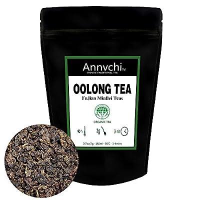 Feuilles de Thé Oolong Fujian (50 Tasses), Thé Oolong Perte de Poid, Thé Oolong Fine Tonic, Thé Chinois du Fu Jian Cultivé Caféine Moyenne Pour Perte de Poids Detox,100g