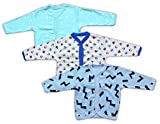 #7: Baby Grow Full Sleeve Front Open Vest-Jhabla-Set Of 3 Boys (12-18 Months Color may Vary)