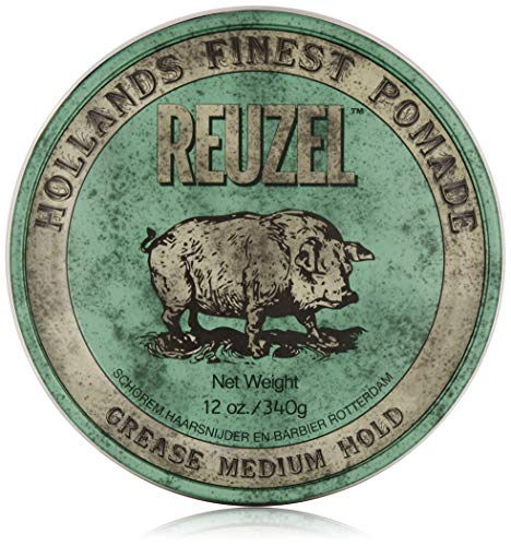 REUZEL Pomade Green Grease Medium Hold, 1er Pack (1 x 340 g) -