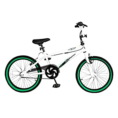 "Muddyfox Tail Whip 11"" Frame Bmx - White/green (20"" Wheel)"