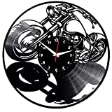 AIYOUBU Harley Davidson Orologi da Parete Dischi in Vinile Dischi da Parete Dischi da Vinile Orologio da Parete Classico Creativo Home Decor Musical Harley Davidson