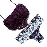 Bikini Donne Italily Floral Nappa Donne Costumi da bagno Bikini Set benda Push-Up imbottito costume da bagno (Size:S, viola)