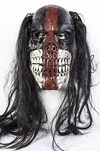 The Rubber Plantation TM 619219290012schwarz Voodoo Killer Clown Halloween Fancy Kleid Latex Maske Kostüm Horror Zubehör, Unisex, ONE SIZE