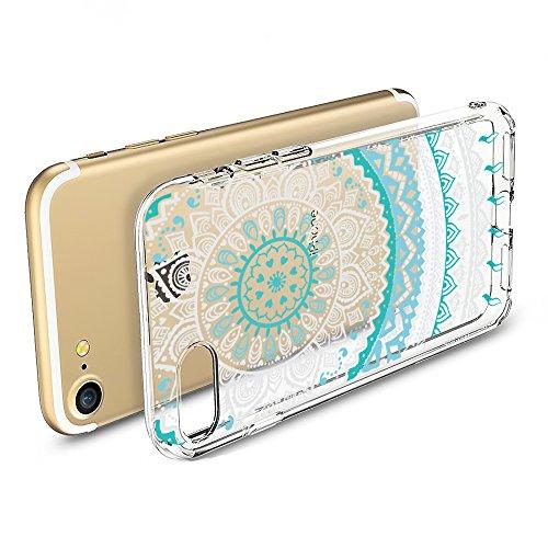 iPhone 6s Plus, 6 Plus Backcover, Conie Mobile Silikon Schutzhülle im Mandala Design Hülle aus TPU transparent Muster kratzfest Motiv 2