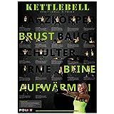 Kettlebell Kugelhantel Guss von POWRX 4 -20 kg (18 kg) + Workoutposter - 6