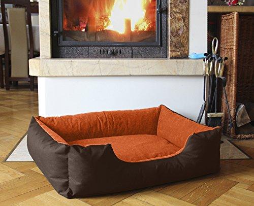 Beddog letto per cane/gatto cuccia lupi s fino a xxl, 24 colori a scelta, cuscino per cane, divano per cane, cestino per cane, marrone/arancione l