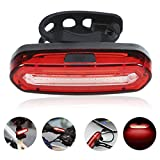 GreenClick COB Waterproof IPX6 Powerful 120 Lumens Rechargeable USB LED Bike Rear Lights