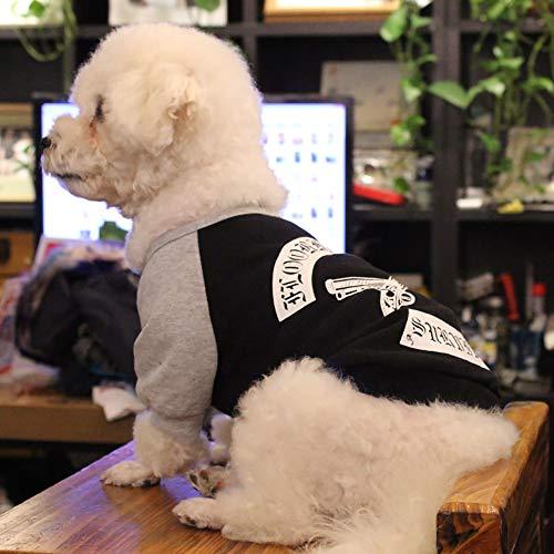 QNMM Hunde T-Shirt Cosy Cotton Weste Niedlich Für Kleine Bis Mittelgroße Welpen Katzen Coole Sommer Benutzerdefinierte Weste Für Kleine Hunde Mädchen,Black,M -