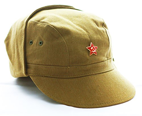 ganwear® Echtem UdSSR Sowjetunion Russische Armee Afghanistan Krieg Militär Uniform Tactical Baseball Cap Hat Angeln Wandern Red Star Badge (Star Uniform)