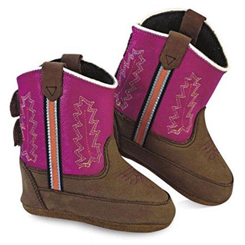 Old West Westernstiefel Little Pony Rosa Braun | 4 (Stiefel Western Rosa Kinder)