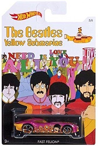 FAST FELON 2016 Hot Wheels THE BEATLES 50th Anniversary YELLOW SUBMARINE 1:64 Scale Collectible Die Cast Metal Toy Car Model 5/6 by Hot Wheels