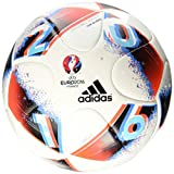 adidas Euro16 Top Glider Fußball, White/Bright Blue/Solar Red/Silver Metallic, 5