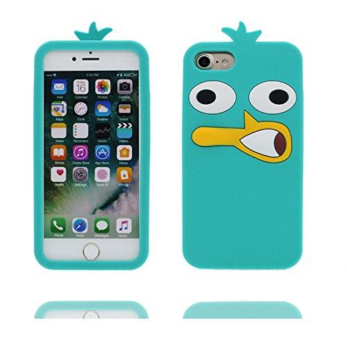 iPhone 7 Plus Custodia, iPhone 7 Plus Copertura 5.5, TPU morbido durobile del fumetto sveglio Il nuovo Case 3D protezione completa del corpo graffia resistente [ Cover 3D Orso del giocattolo Disney ] blu