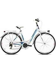 "'torpado bicicleta City Partner 28""Mujer Alu 3x 7V Talla 48blanco Blue (City)/Bicycle City Partner 28Lady Alu 3x 7S Size 48White Blue (City)"