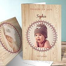 Einladungskarten Zur Taufe Selber Basteln, Glückseligkeit 10 Karten,  Vertikale Klappkarte 105x148 Inkl. Weiße