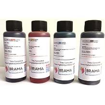 4 X Botellas de tinta comestible de 100ml para usar con impresoras Canon. Bramacartuchos, envío desde Madrid