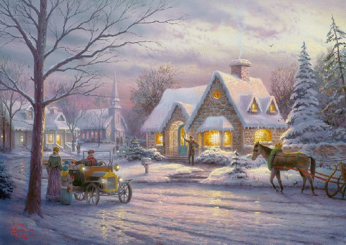 Gibsons Memories Of Christmas Puzzle von Thomas Kinkade (500 Stück) (Christmas Memories Kinkade Thomas)