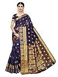 Pisara Women's Chanderi Silk Saree,Blue Sari