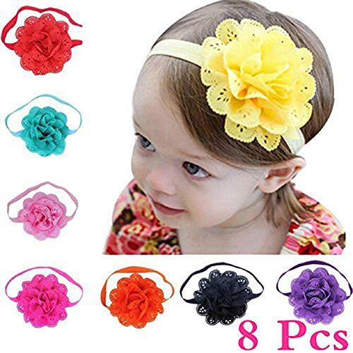 Namgiy Baby Mädchen Haarband Haarband Head Wrap Haarschmuck Bögen für Outdoor Urlaub Mädchen Elastic Headbands 8