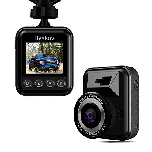 Caméra de voiture, Byakov Dashcam voiture enregistreur de conduite Full HD 1920x1080P 1.5 pouces Mini Dash-Cam pour voiture 170 degrés Angle voiture DashCam avec G capteur, WDR, détection de mouvement
