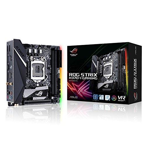 Asus Rog Strix H370-I Gaming Mainboard Sockel 1151 (Mini-ITX, Intel H370, DDR4, dual M.2, Intel 802.11ac Wi-Fi, 6Gbit/s SATA, USB 3.1, Aura Sync, HDMI)
