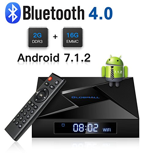 Globmall X4 Android 7.1 Smart TV Box 2 GB RAM 16 GB Bluetooth 4.0 Amlogic Quad Core CPU 4 Karat 3D 2,4 G Wifi Android Box (Android Quad-core-tv-box)