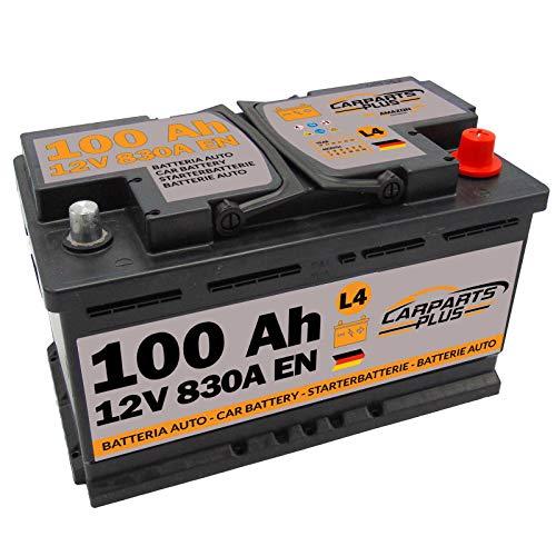 CARPARTS PLUS L4100CARPARTS Batteria L4 100ah 830A 12V Polo DX