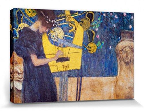 1art1 60544 Gustav Klimt - Die Musik, 1895 Poster Leinwandbild Auf Keilrahmen 120 x 80 cm -
