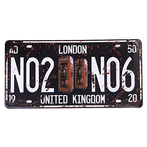 Eureya Londres No2No6Auto matrícula coche etiqueta
