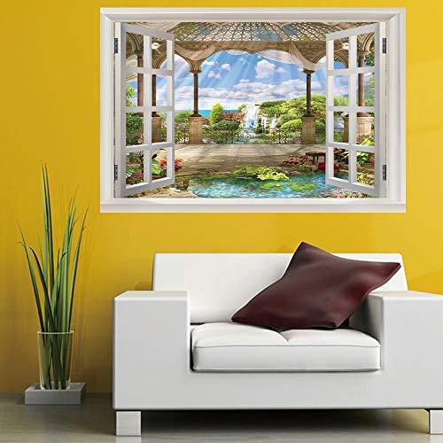 schte Fenster Landschaft Wandaufkleber Schlafzimmer Kinderzimmer Büro Diy Abnehmbare (50X70 Cm) ()