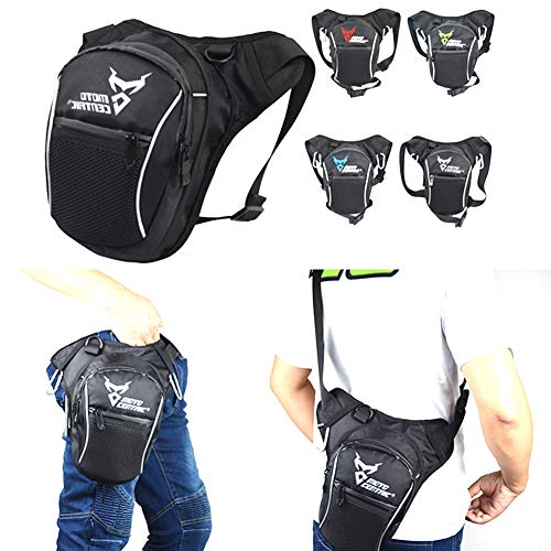 Scelet Waterproof Airsoft Tactical Drop Leg Panel Utility Pouch Bag Type B Cross Over Leg Rig Outdoor Bike Cycling Hiking Hip/Thigh Bag