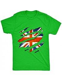 8TN 0065 British Flag Ripped Unisex-Children T Shirt