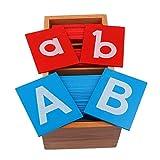 Backbayia Montessori Educativos Juguetes de Alfabetos Carta Aprendizaje de Madera Juguetes de Desarrollo Inteligencia para Niños