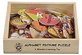 #2: Skillofun Wooden Alphabet Picture Puzzle, Multi Color
