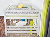 Hochbett für Erwachsene Easy Premium Line K15/n, Buche Vollholz massiv weiß lackiert, umbaubar - Liegefläche: 160 x 200 cm - 3