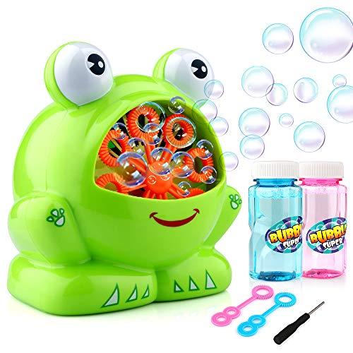 EpochAir Seifenblasenmaschine mit 2 Flaschen Lösungen , Grün
