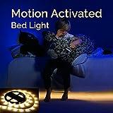 LED Lichtleiste Bewegungssensor Nachtlicht Bewegungsmelder Bett Licht Baby Sofa Leuchtband Warmweiß Lichterkette Bettlicht Indirekte Beleuchtung mit automatischer Abschaltung Timer Wasserdicht Licht