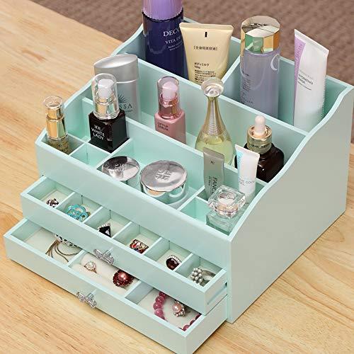Holz Veranstalter, Rosa Leiter Schublade Lippenstift Erröten Parfüm Arbeitsplatte Display Aufbewahrungsbox