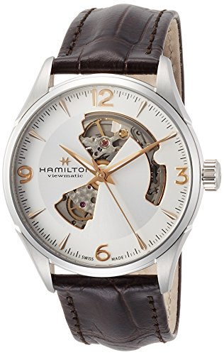 HAMILTON MEN'S 42MM BROWN LEATHER BAND STEEL CASE AUTOMATIC WATCH H32705551